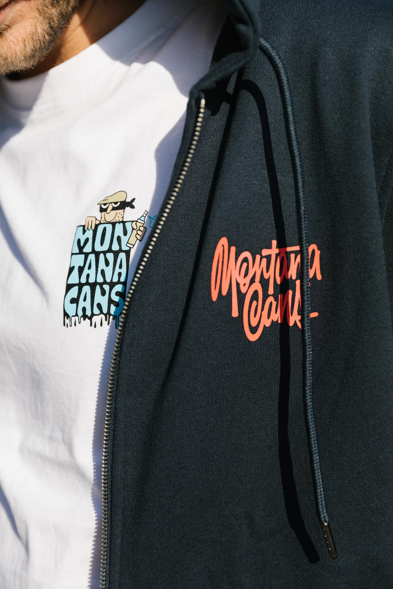 Montana CANS ZIP HOODY TAG BY SHAPIRO - Navy