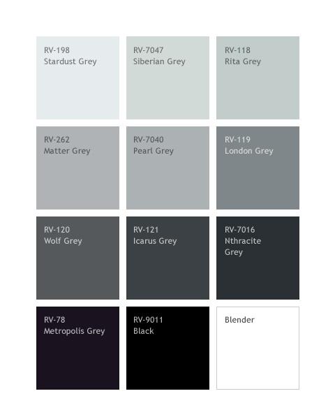 MTN Colors 94 Graphic Marker 12er Set GREY