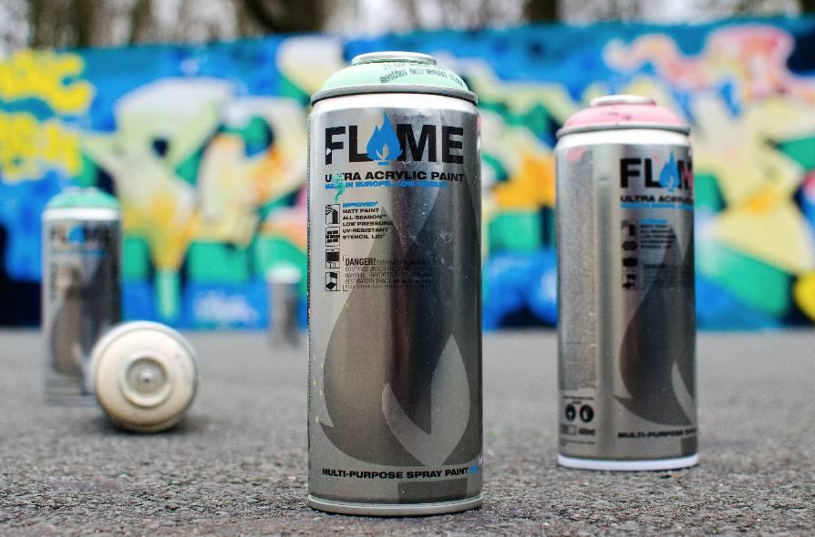 Flame BLUE 400ml 24er Set