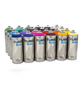 Flame BLUE 400ml 24er Set
