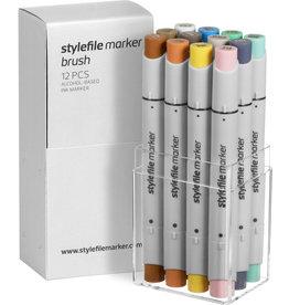 Stylefile MARKER Brush 12er Set Multi Try Out