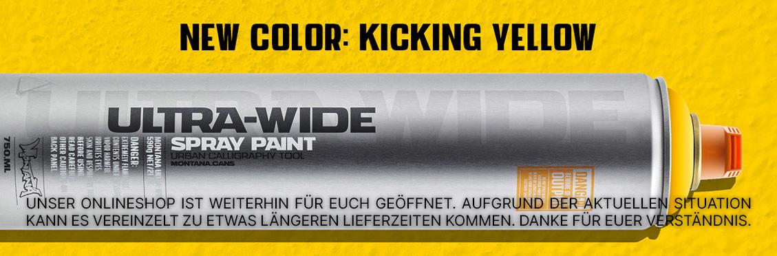 Montana ULTRA WIDE kicking yellow jetzt verfügbar!