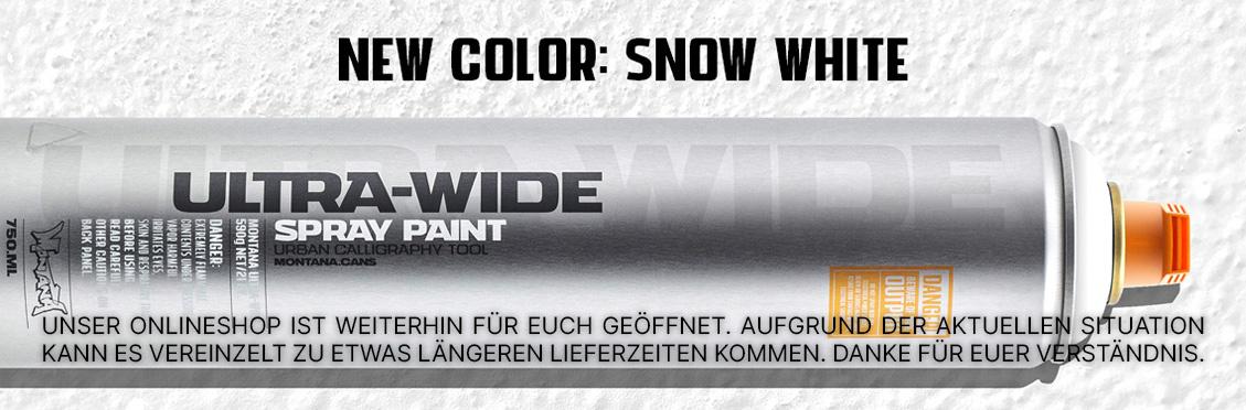 Montana ULTRA WIDE snow white jetzt verfügbar!
