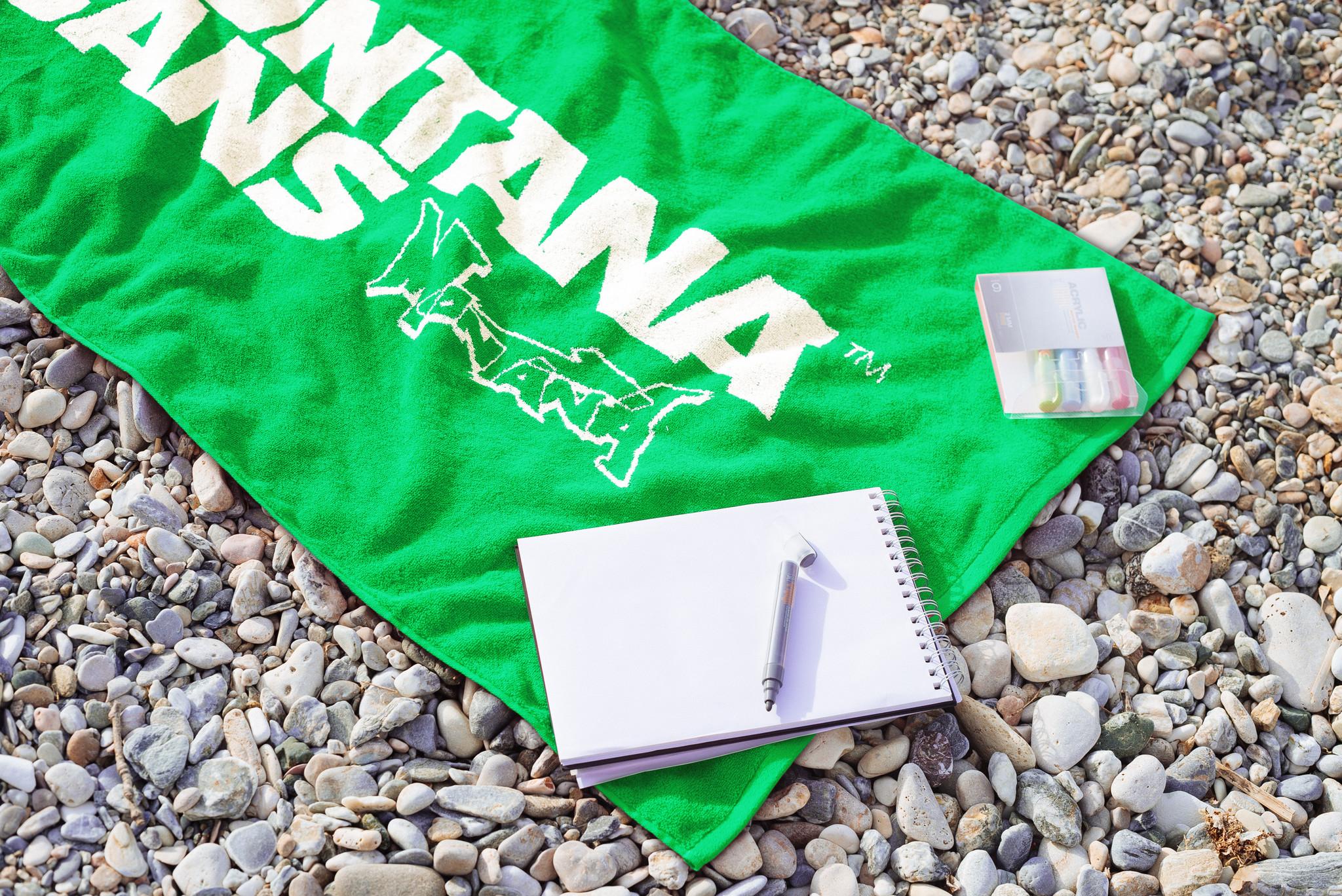 Montana BEACH TOWEL grün