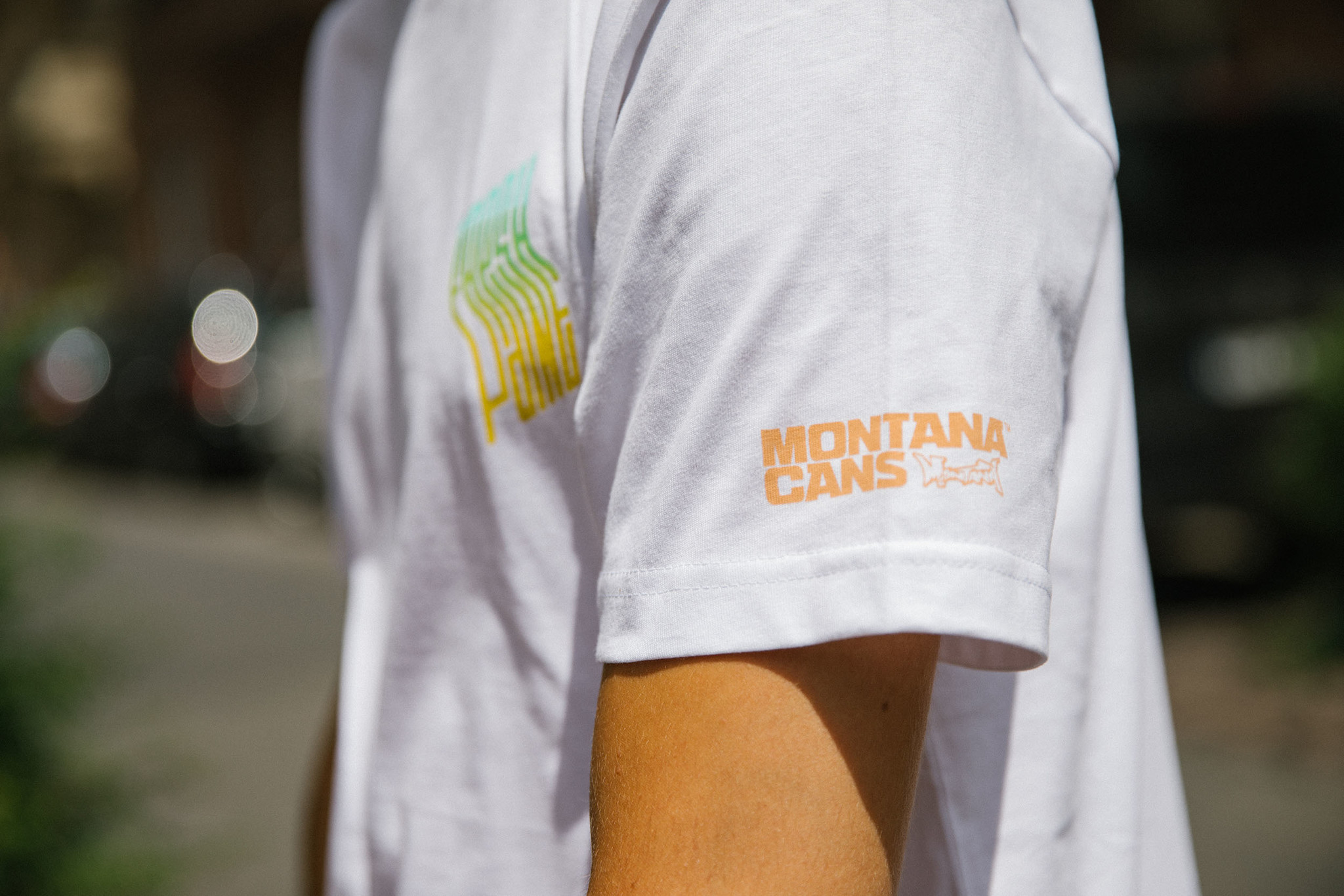Montana T-SHIRT FRESH PAINT FADE BY PREFID white