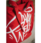 "Montana Cotton Bag -  featuring BAKERONER ""SHAKE WELL"" Red"