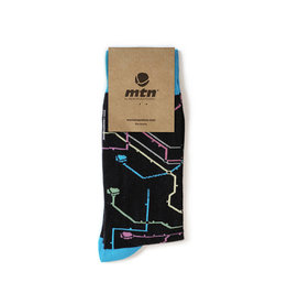 MTN Colors SOCKEN Metro Black  41/45