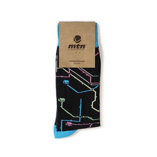 MTN Colors SOCKEN Metro Black  41/45