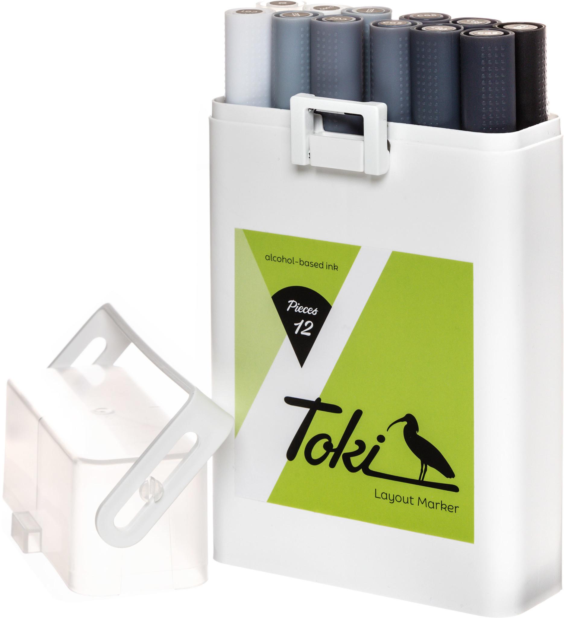 Toki Marker 12er Marker Set Grey