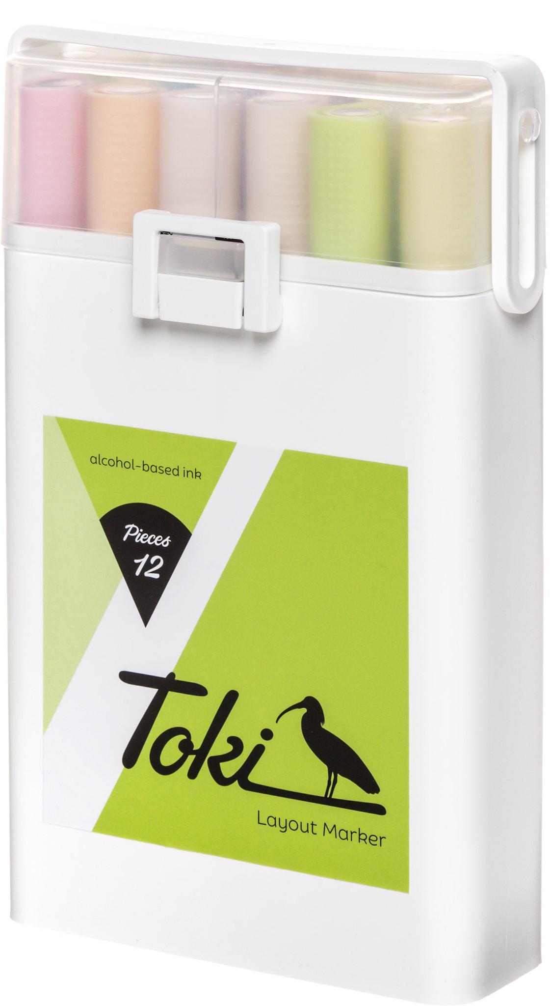 Toki Marker 12er Marker Set  Pastel