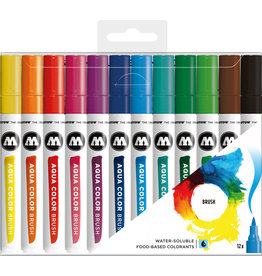 Molotow Aqua Color Brush Marker Set Basic Set 1