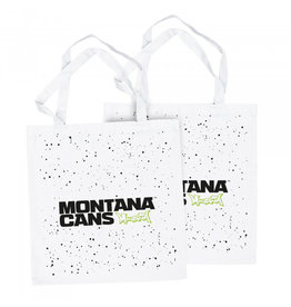 Montana Typo-Logo+Stars Cotton Bag -White 2