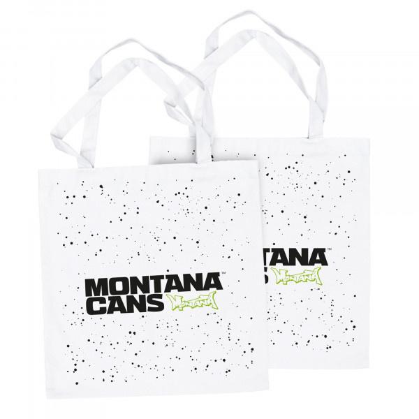 Montana Typo-Logo+Stars Cotton Bag - White 2
