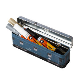 Molotow TRAIN STEEL BOX incl. 4x ONE4ALL Acrylic Twin