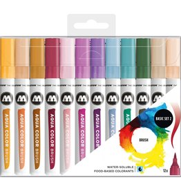 Molotow Aqua Color Brush Marker Set Basic Set 2