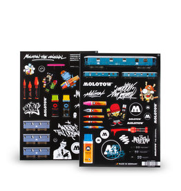 Molotow A 4 Sticker Sheets A & B