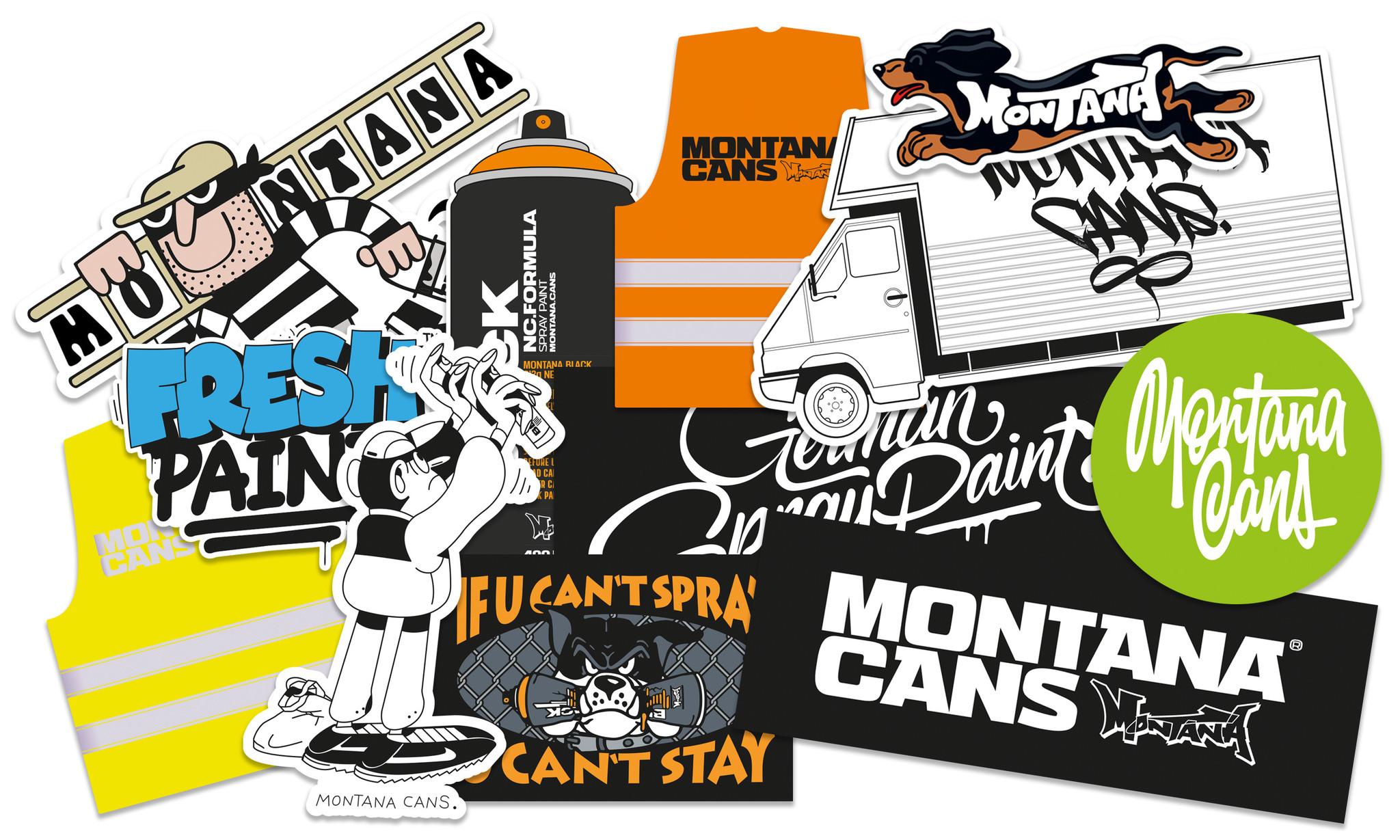 Montana  Cans Sticker Set #1
