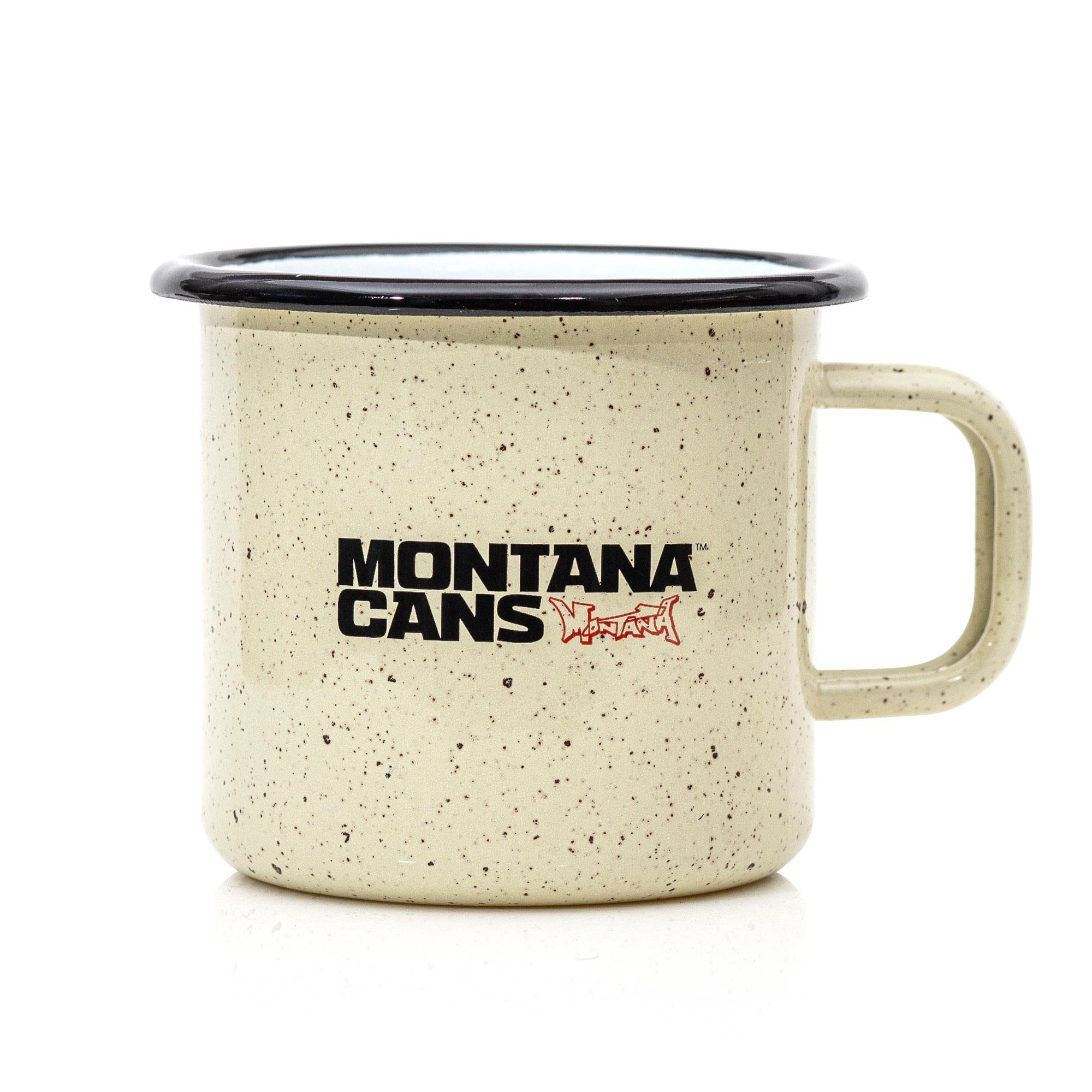 """Montana Cans Emaille Tasse – Enamel Mug """"TYPO LOGO"""""""