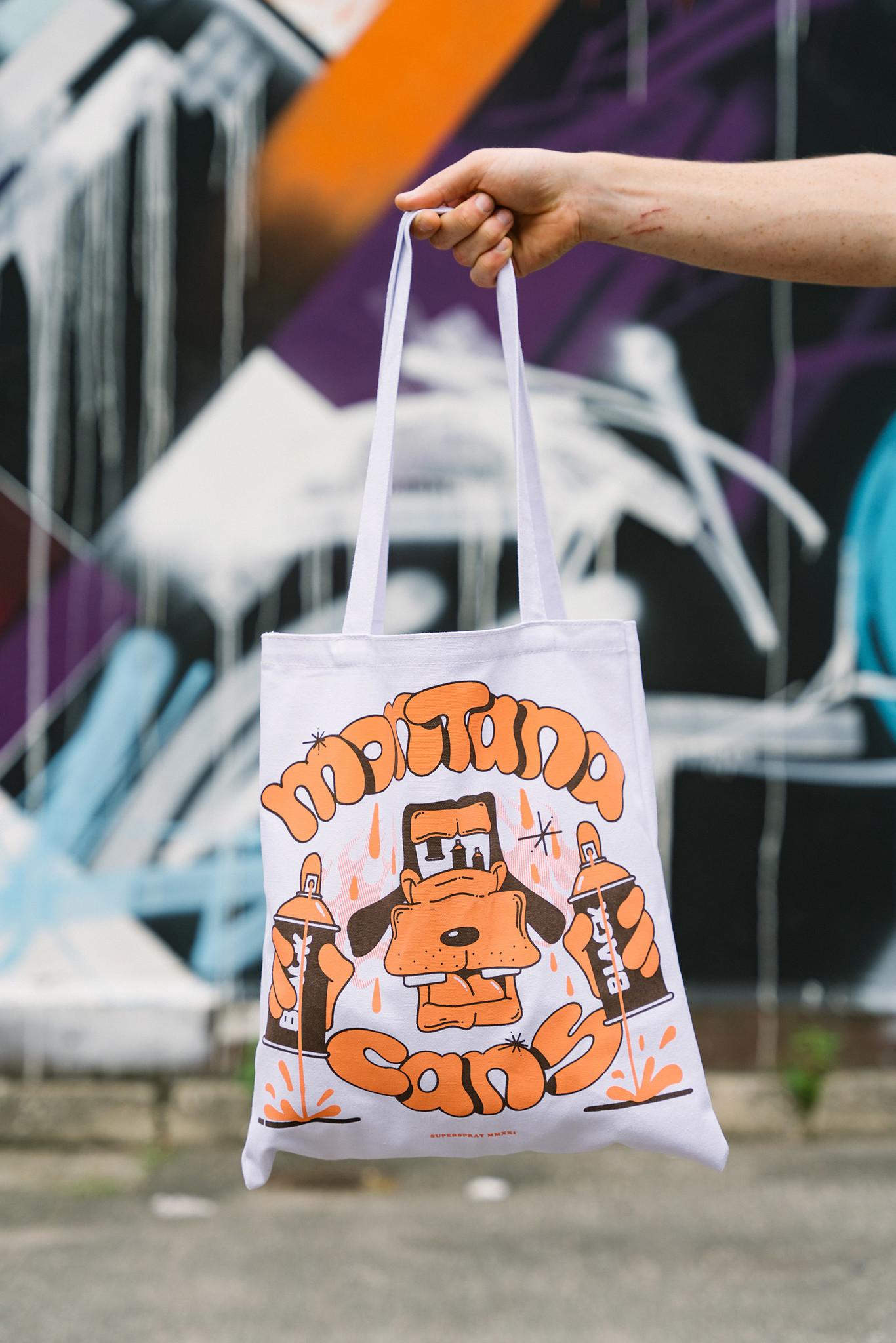 Montana Cotton Bag -BLACK DOG by Superspray