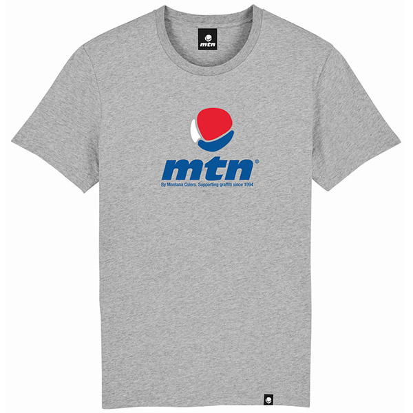 """MTN Colors T-Shirt Grey """"Logo White-Blue-Red"""""""