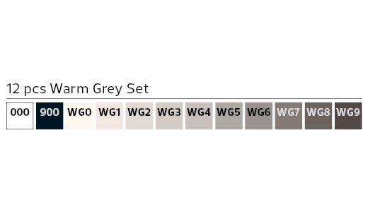 Stylefile MARKER 12er Set Warm Grey