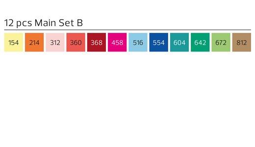 Stylefile MARKER Brush 12er Set Main B