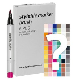 Stylefile MARKER Brush 6er Set Tryout