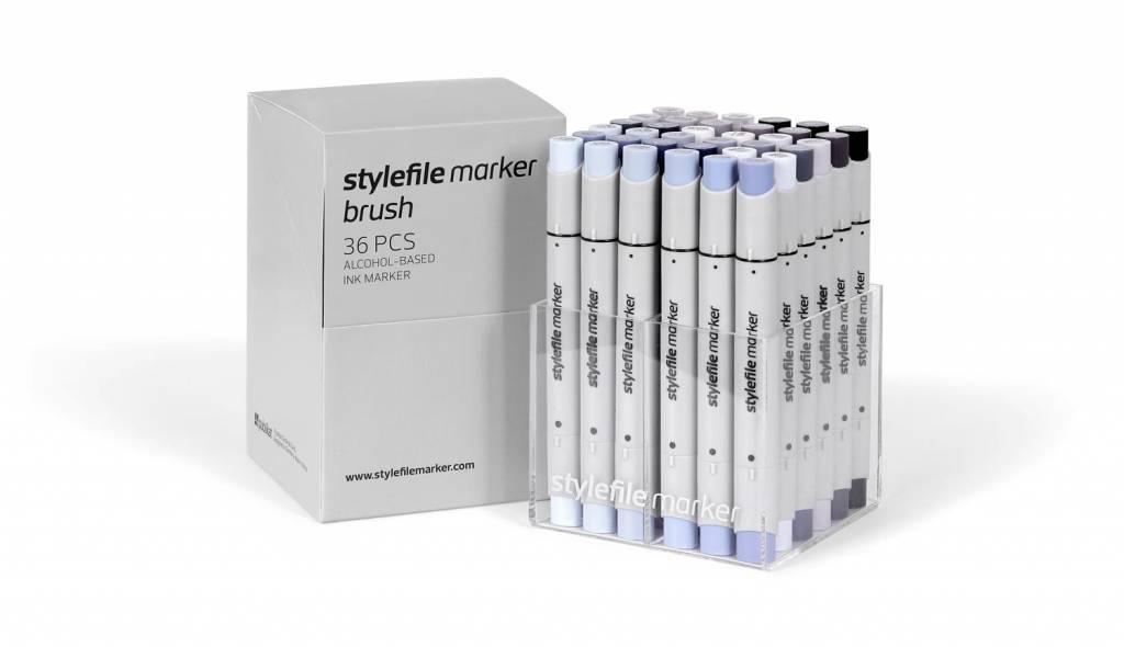 Stylefile MARKER Brush 36er Set Grey