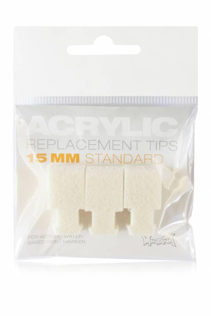 Montana ACRYLIC Tip 15mm Standard