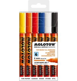 Molotow ONE4ALL 127HS Marker 6er Basic-Set 1
