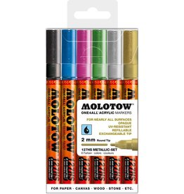 Molotow ONE4ALL 127HS Marker 6er Metallic-Set