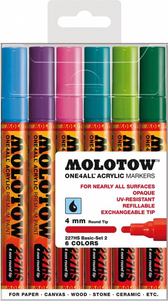 Molotow ONE4ALL 227HS Marker 6er Basic-Set 2