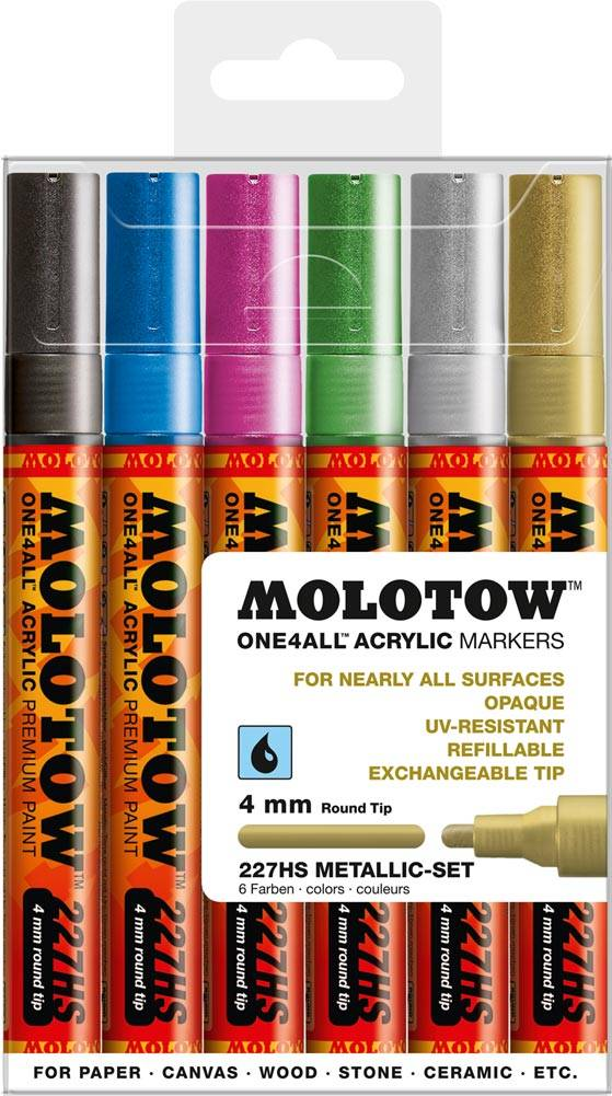 Molotow ONE4ALL 227HS Marker 6er Metallic-Set