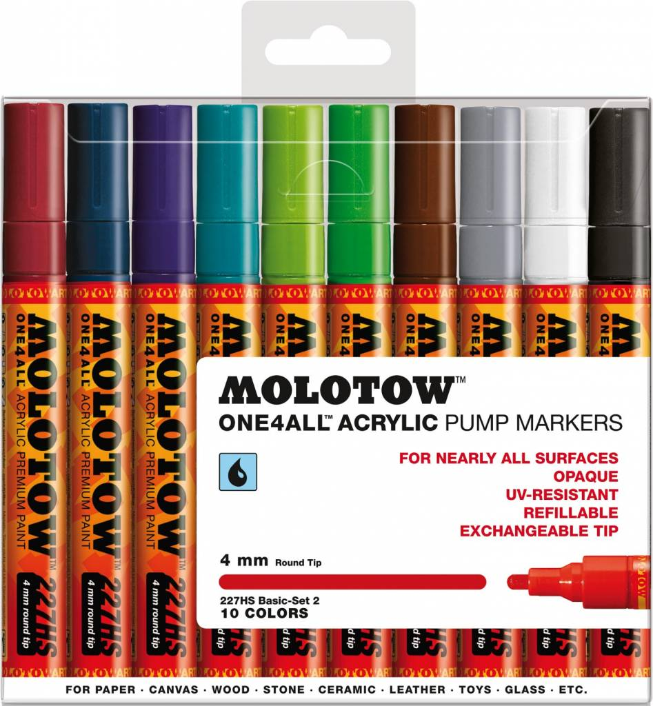 Molotow ONE4ALL 227HS Marker 10er Basic-Set 2