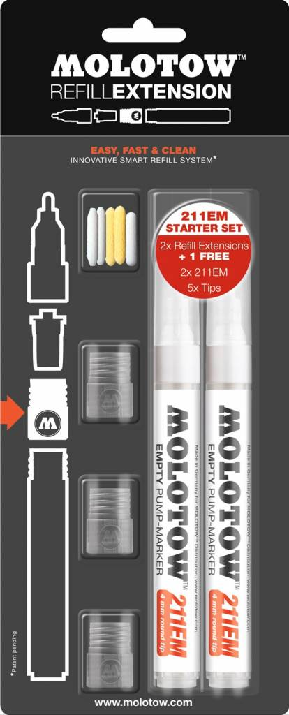 Molotow REFILL EXTENSION 211EM Starter Kit