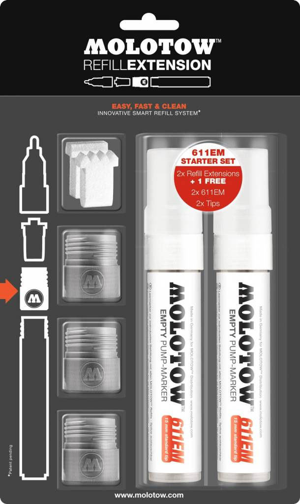 Molotow REFILL EXTENSION 611EM Starter Kit