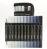 Delta Marker 12er Set Cool Grey Colors inkl. Tasche