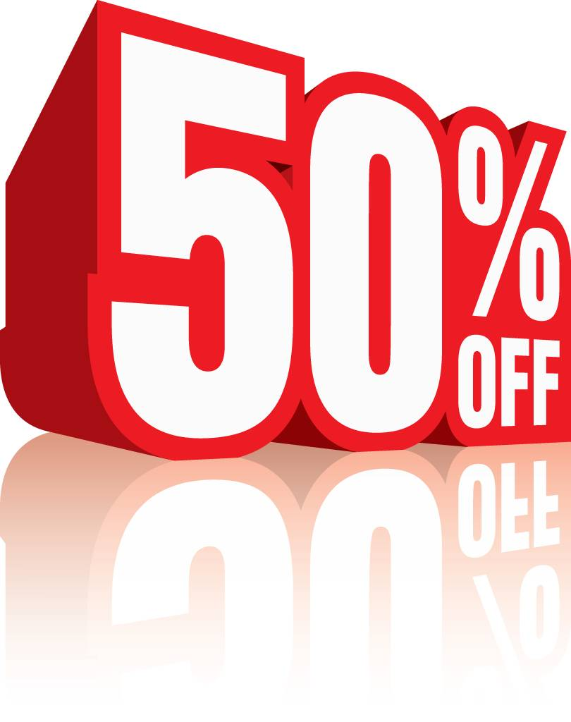 50% korting op kleding!