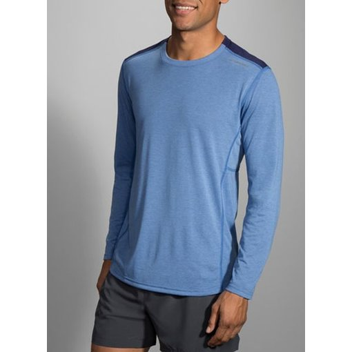 Brooks Shirt Distance Heren lange mouw Blauw