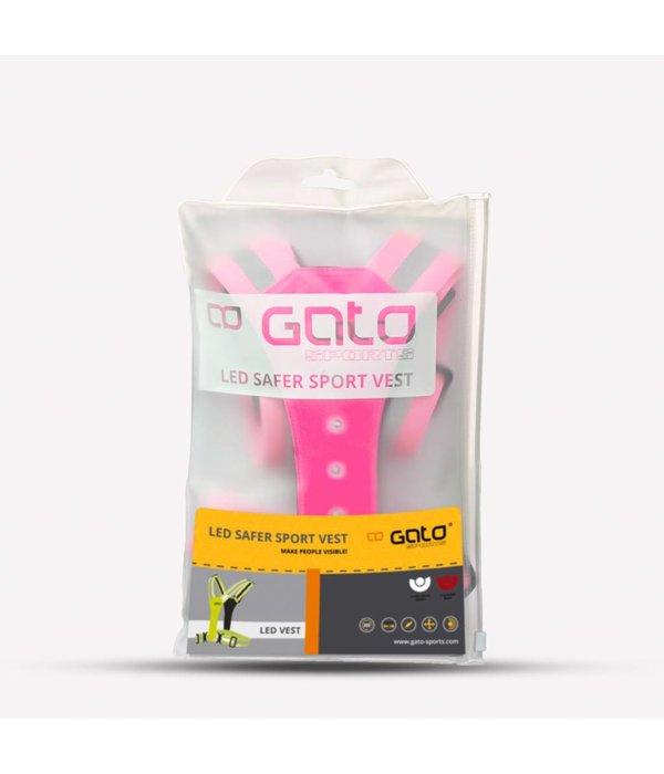 Gato International Roze Veiligheidshesje met lampjes