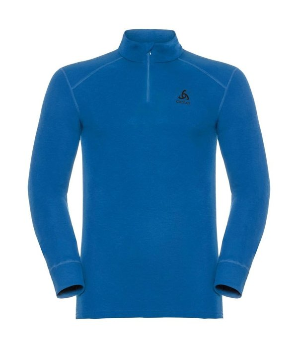 Odlo top turtle neck half zip heren blauw