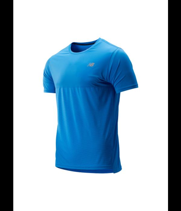 New Balance shirt accelerate heren blauw
