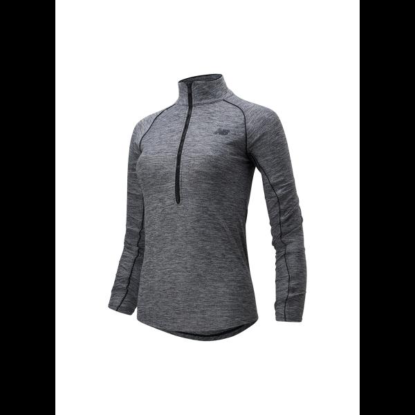 1/2 zip shirt dames
