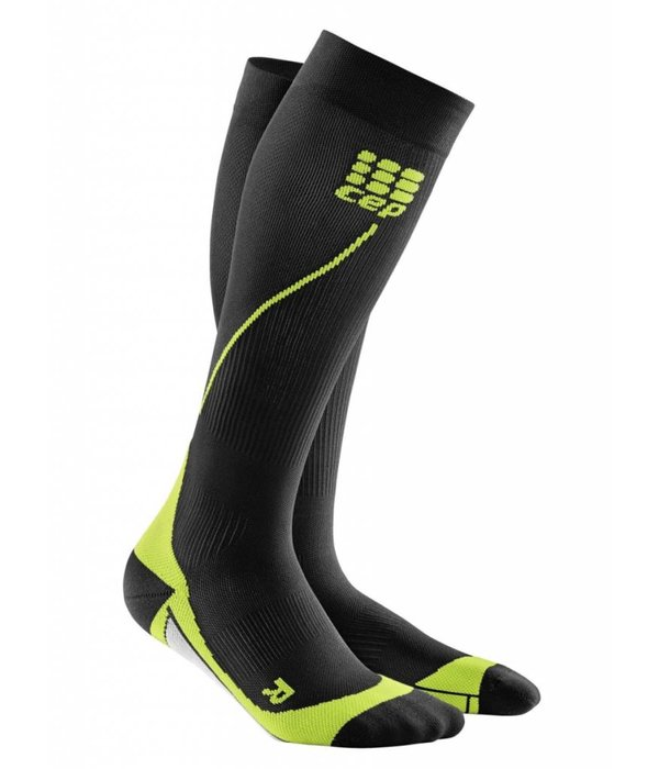 Cep Run Socks 2.0 Compressiekous Heren Zwart/groen