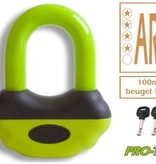 PRO-TECT Beugelslot - Schijfremslot ART-4 MBT 4116 Geel