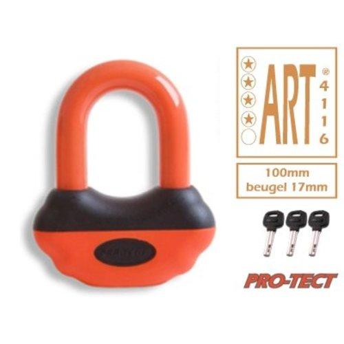 PRO-TECT Beugelslot - Schijfremslot ART-4 MBT4116 Oranje