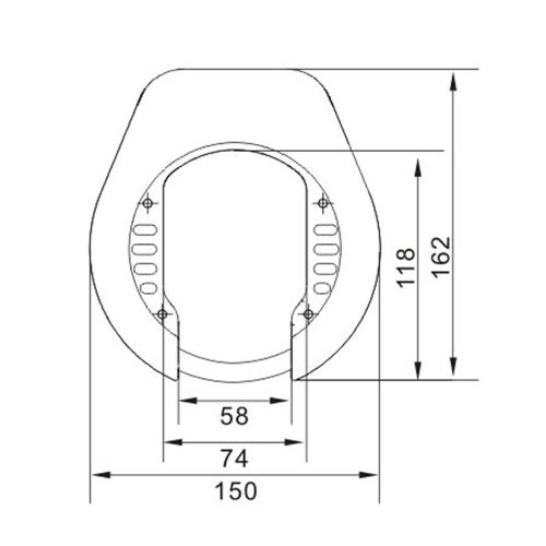 LYNX Ringslot ART-2 74mm/120cm MBT 4251