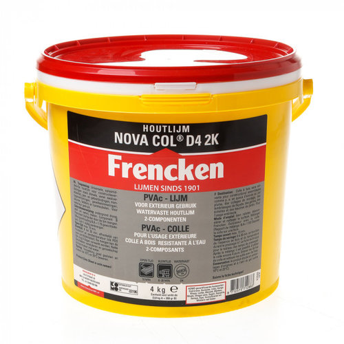 Frencken Nova Col D4 2K Watervaste Houtlijm 4kg