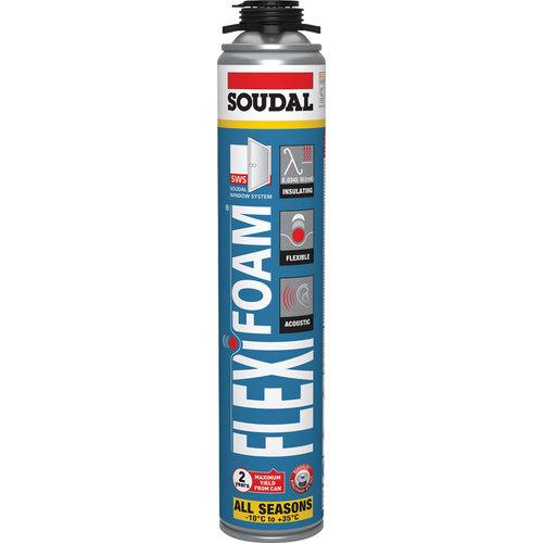 Soudal Flexifoam Blue All Season Blauw 750ml