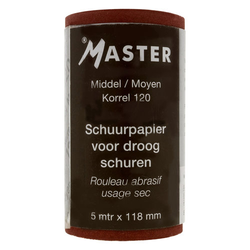 Schuurpapier rol 118mmx5mtr Korrel 120